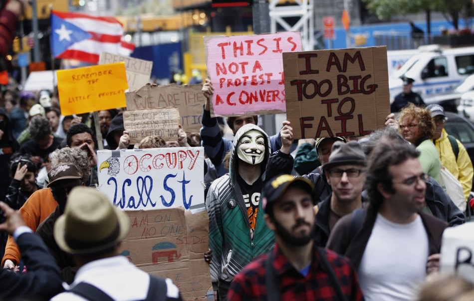 Occupy Wall Street marchers